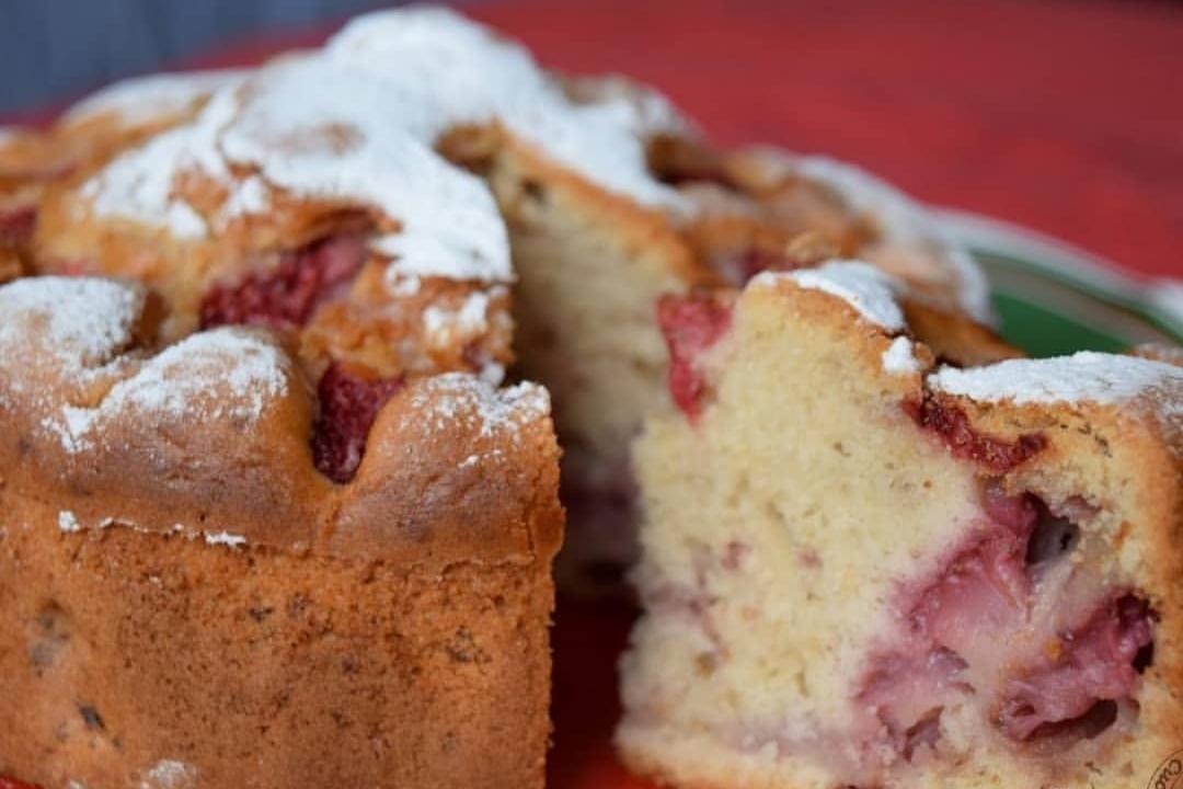 Συνταγή για ανάποδο κέικ φράουλας