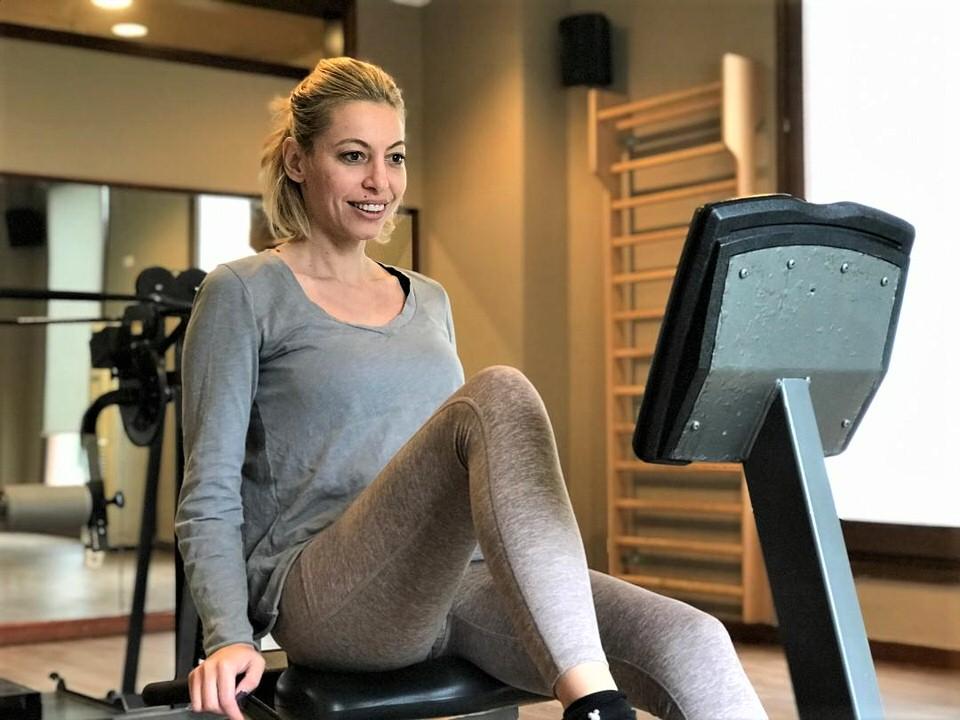 Η Μαρκέλλα Σαράιχα στο Mitsis Galini Wellness Resort & Spa