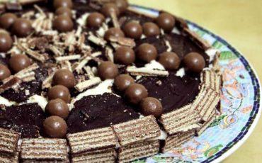 Συνταγή για σπιτική σοκολατένια γκοφρέτα