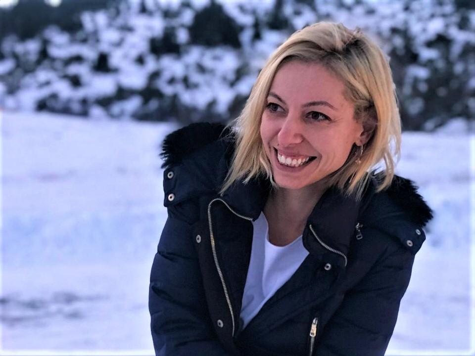 Η Μαρκέλλα Σαράιχα στο χιονοδρομικό κέντρο Μαινάλου