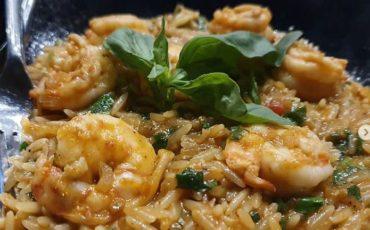 Nηστίσιμη συνταγή: Κριθαρότο με γαρίδες