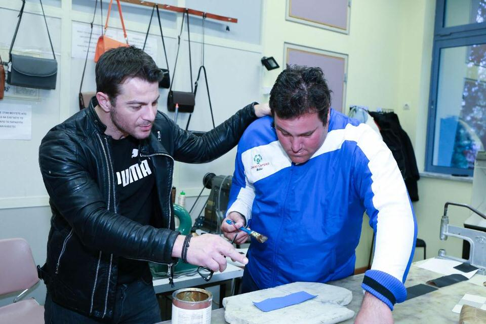 O Γιώργος Αγγελόπουλος επισκέφθηκε τον Σύνδεσμο Προστασίας για Παιδιά και ΑμΕΑ