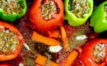 Συνταγή για πιπεριές γεμιστές με κιμά!