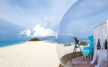 Beach Bubble: Διαμονή σε δωμάτιο-φούσκα σε μία απομονωμένη παραλία των Μαλδίβων!