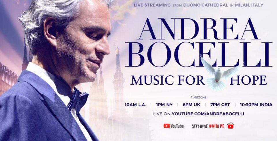 Andrea Bocelli: Live από τον άδειο καθεδρικό ναό του Duomo