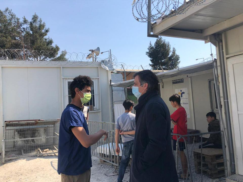Επίσκεψη του προέδρου του ΕΟΔΥ στο ΚΥΤ Μεταναστών Μόριας και στο Γ.Ν. Μυτιλήνης
