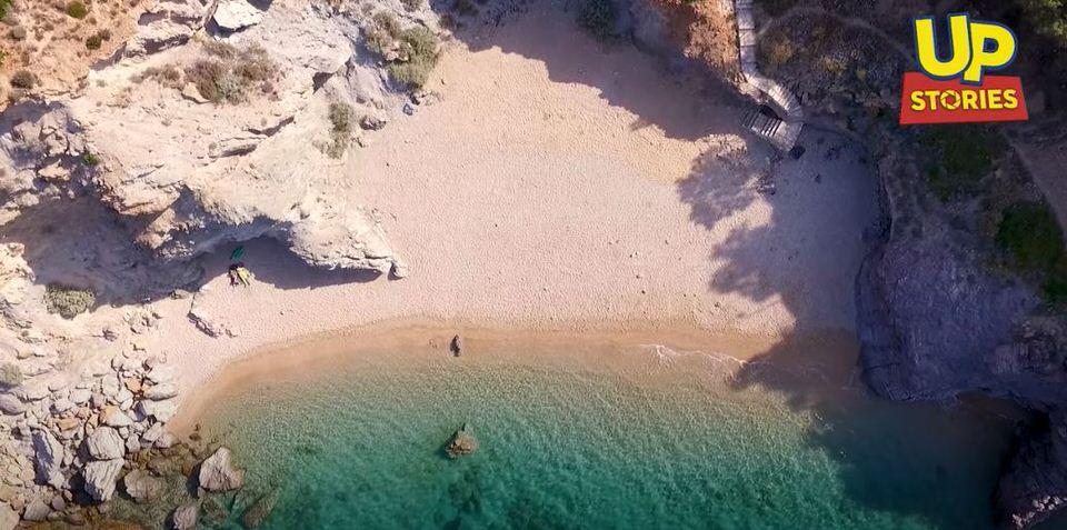 """Λαυρεωτική ριβιέρα: Το """"νησί της Αττικής"""" από ψηλά! (video)"""