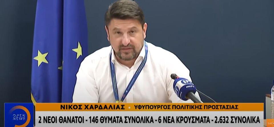 Νίκος Χαρδαλιάς: Δεν υπάρχει απαγόρευση κυκλοφορίας μετά τα μεσάνυχτα
