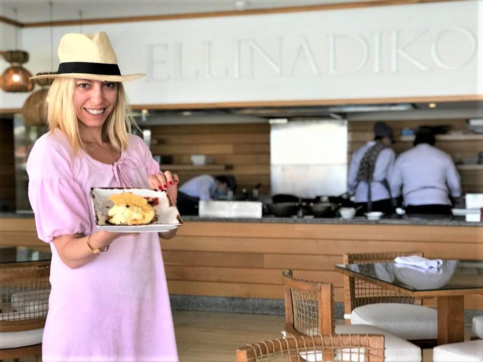 Η Μαρκέλλα Σαράιχα στο Ελληνάδικο του Mitsis Alila Resort Spa