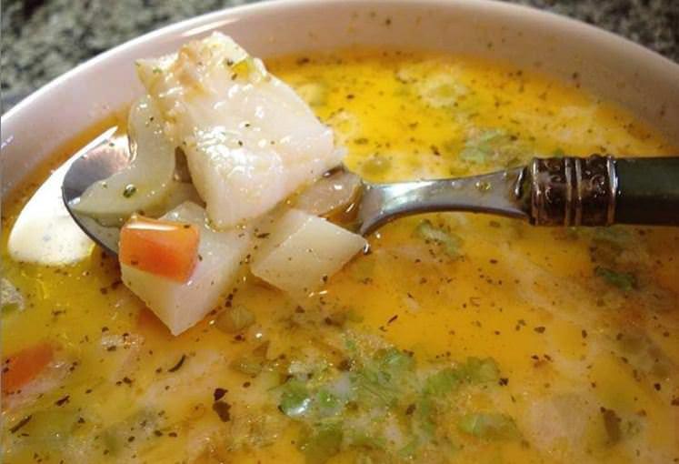 Συνταγή για ψαρόσουπα βελουτέ με λαχανικά