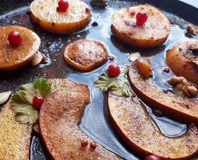 Συνταγή για καραμελωμένα φρούτα στο φούρνο!