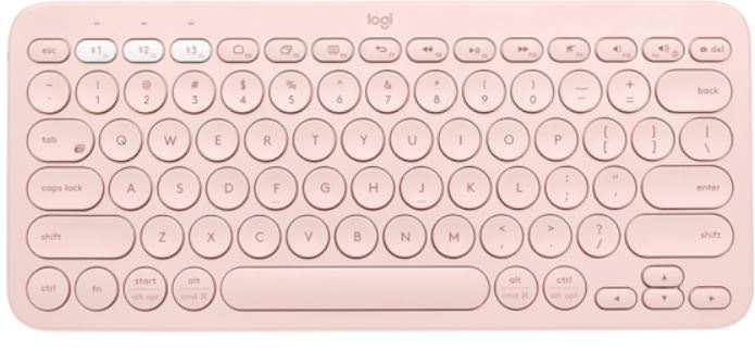 Logitech K380 Wireless Bluetooth Multi-device - Πληκτρολόγιο - Dark Rose