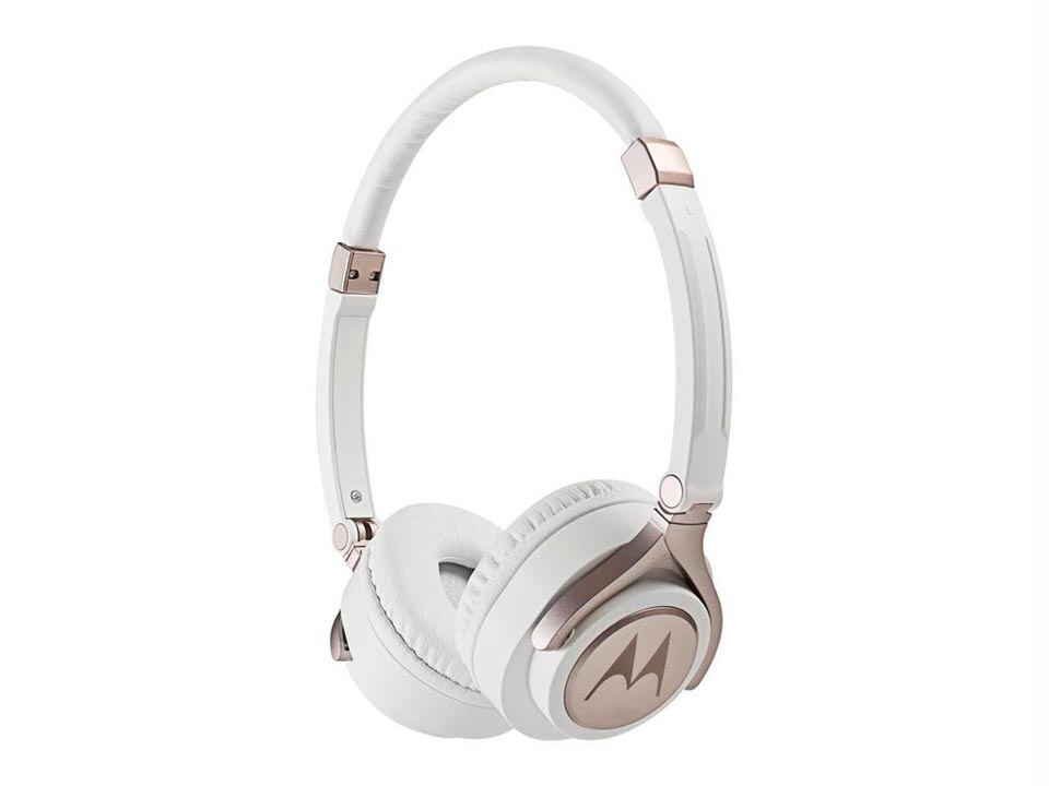 Motorola Ρυθμιζόμενα Στερεοφωνικά Ακουστικά On-ear 100db Σε Λευκό Χρώμα, Pulse 2
