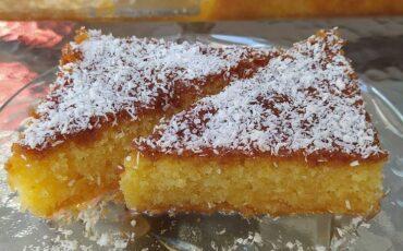Η Ελένη Γιώτη μας δίνει την συνταγή για σπιτικό ραβανί με ινδοκάρυδο