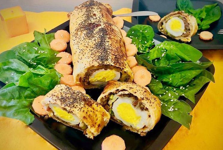 Συνταγή για ρολό με κιμά και λαχανικά