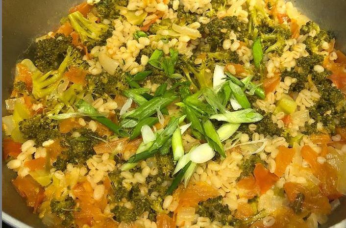 Συνταγή για κριθαράκι με λαχανικά