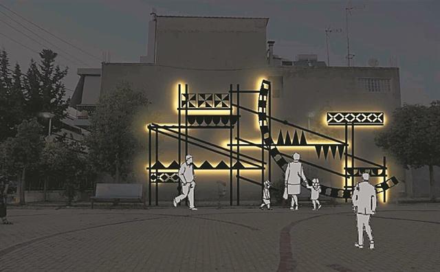 """""""Φωτεινά Ξυστά"""" (Light Sgraffito): Φωτιστική Εγκατάσταση από τους Beforelight"""