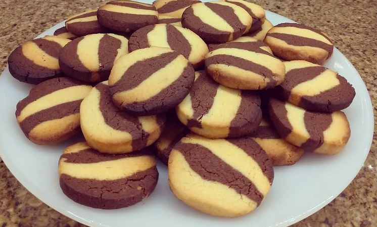 Συνταγή για δίχρωμα μπισκότα!