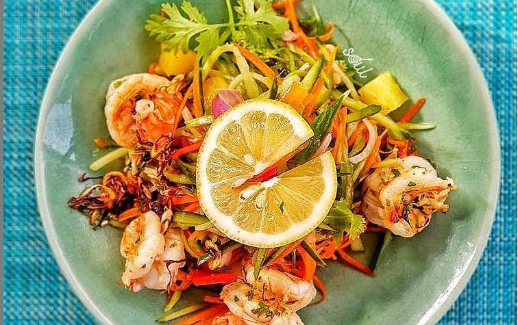 Νηστίσιμη συνταγή για σαλάτα με γαρίδες!