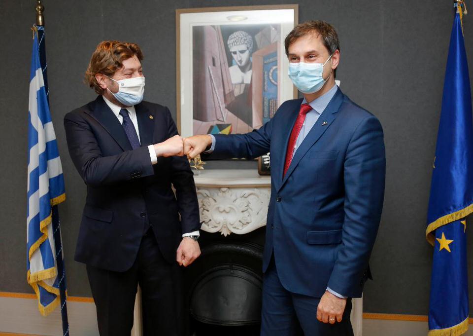 Συνάντηση του Υπουργού Τουρισμού Χάρη Θεοχάρη με τον Υπουργό Τουρισμού του Σαν Μαρίνο Federico Pedini Amati