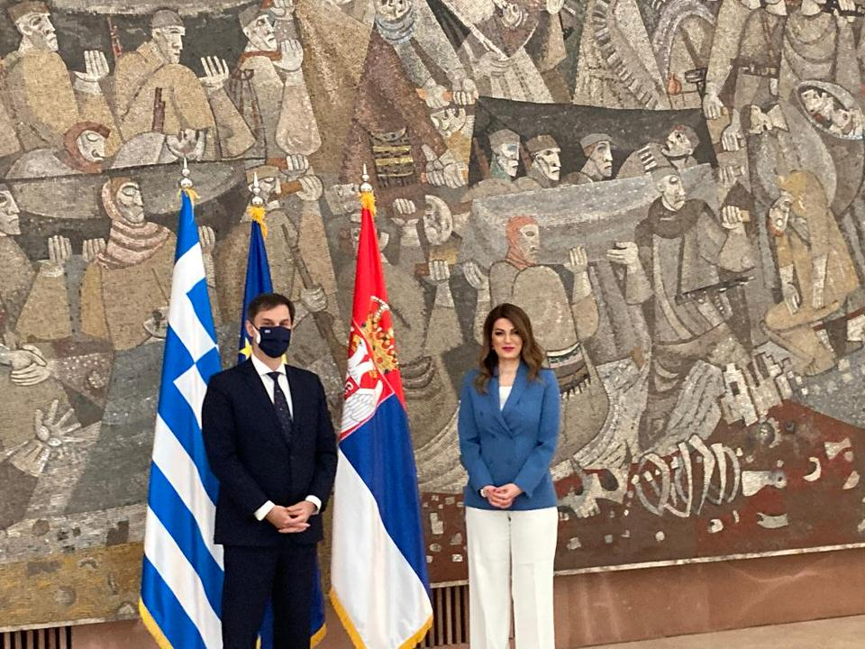 Κοινή δήλωση υπέγραψε ο Χάρης Θεοχάρης με την Υπουργό Εμπορίου, Τουρισμού και Tηλεπικοινωνιών της Σερβίας