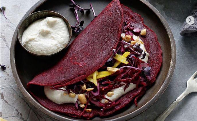 Συνταγή για κρέπες με λαχανικά
