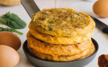Συνταγή για ομελέτα σε αραβική πίτα