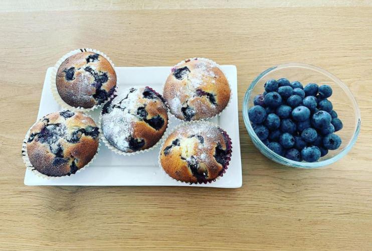 Υγιεινά muffins με βατόμουρα ιδανικά για δίαιτα!