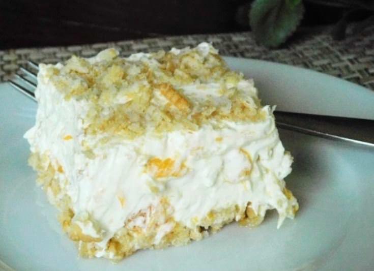 Συνταγή για light γλυκό με μπισκότα και ανανά!