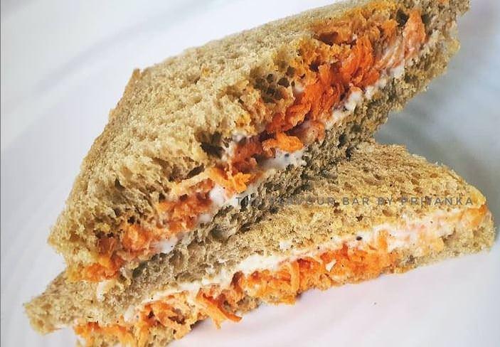 Σάντουιτς με καρότο και χούμους-Η πιο ωραία συνταγή!