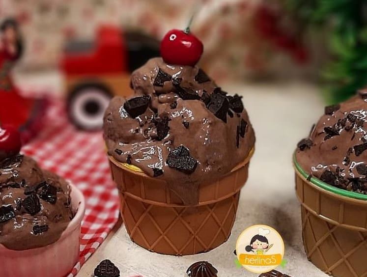 Συνταγή για light παγωτό με κουβερτούρα!