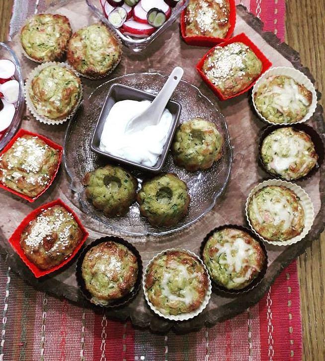 Συνταγή για muffins με κολοκυθάκια και φέτα!