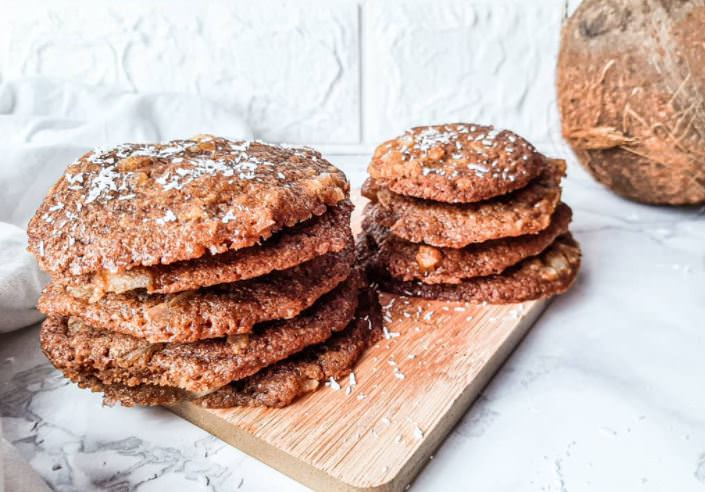 Συνταγή για μπισκότα διαίτης με γεύση καρύδα
