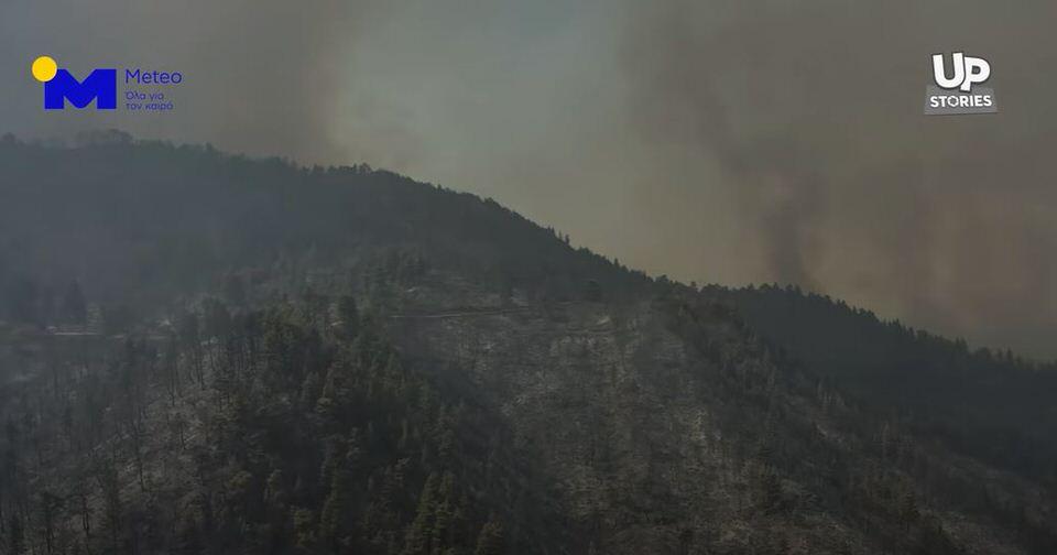 Σοκαριστικό βίντεο: Η βιβλική καταστροφή της Εύβοιας από ψηλά
