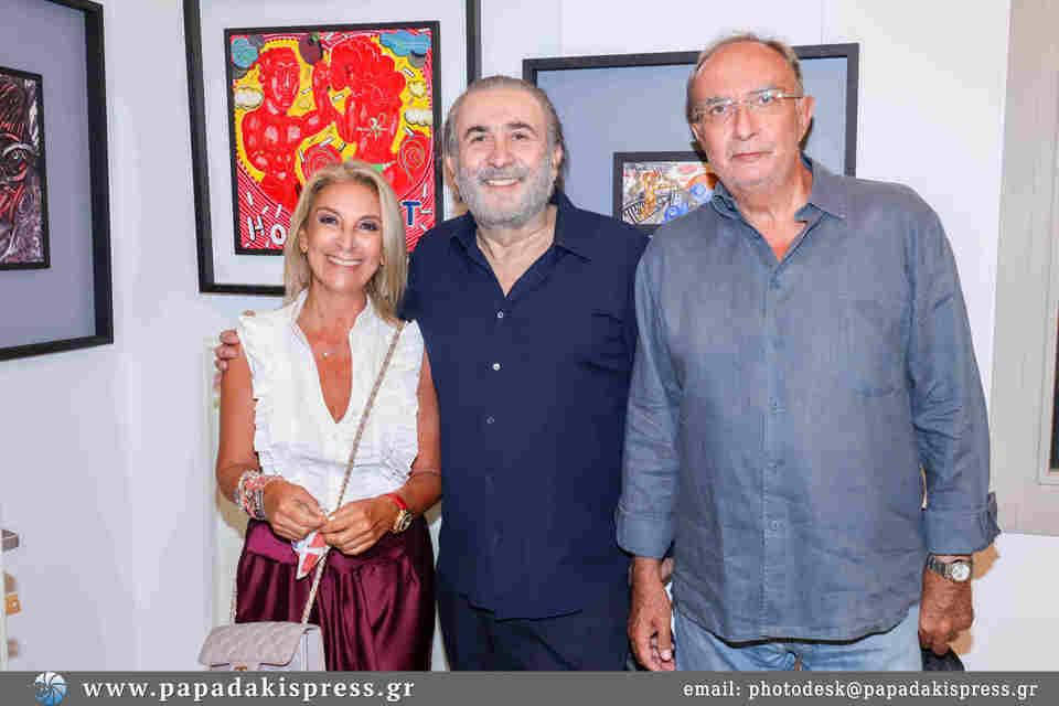 Μεγάλη επιτυχία στα εγκαίνια της έκθεσης των Λαζόπουλου-Χαντζαρά στην γκαλερί Kapopoulos Fine Arts